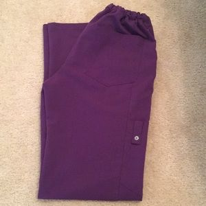 Eggplant purple scrub bottoms